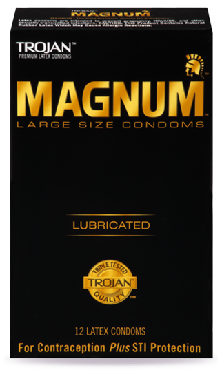 Trojan Magnum Lubricated (Retail pack of 12) Clearance Lot Exp Jul 2019