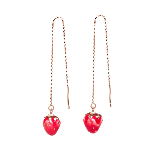 Strawberry Threader Earrings