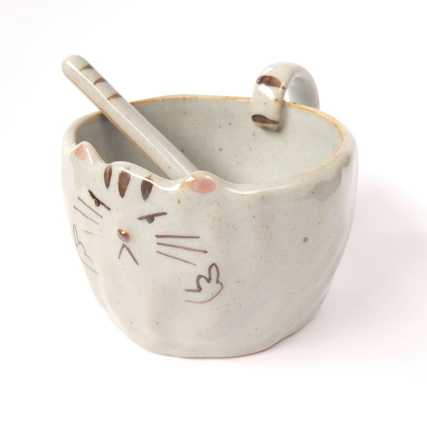 I Do What I Want Cat Face Mug And Paw Spoon Set