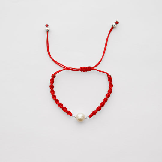 Pearl - Red String Bracelet