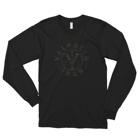 Black-Multicam Logo Long Sleeve Shirt