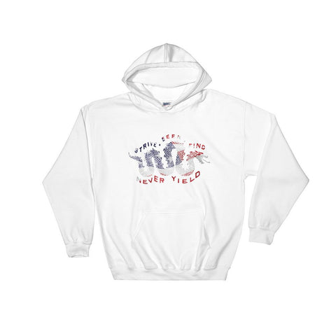 Red White And Blue Serpent Hooded Sweatshirt