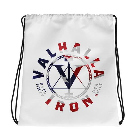 Valhalla Iron USA Logo Drawstring Bag