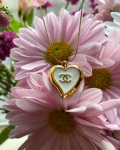 Gold sweetheart cc pendent