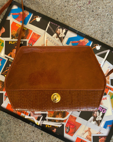 Pecan Brown leather crossbody