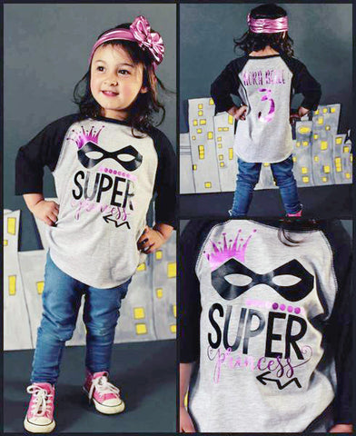 Super Princess Shirt Superhero Girls Birthday
