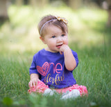 Girls First Birthday Shirt, 1st Birthday Shirt, Girls Birthday Shirt, One-derful Shirt - Purple Elephant STL