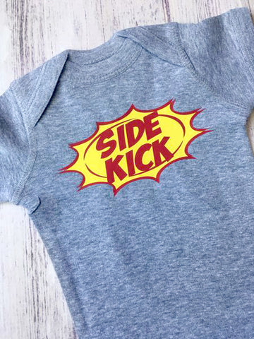 Sidekick Shirt, Superhero Sidekick Shirt, Superhero Birthday Shirt, Sidekick - Purple Elephant STL