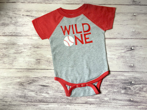 Wild ONE Baseball Shirt, First Birthday Baseball Shirt, Boys Baseball Shirt, Baseball Shirt - Purple Elephant STL