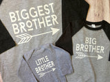 Biggest Brother Big Brother Little Brother Shirts, Gender Reveal Shirts, Brother Shirts - Purple Elephant STL