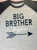 Big Brother Shirt, Big Brother Again Shirt, Brother Shirt - Purple Elephant STL