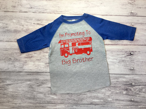 Big Brother Firetruck Shirt, Big Brother Shirt, Brother To Be Shirt, Firetruck Shirt - Purple Elephant STL