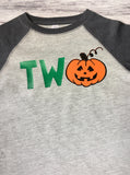 Halloween Shirt, Boys Hallowen Shirt, BOO Shirt, Halloween Raglan, Pumpkin Shirt - Purple Elephant STL