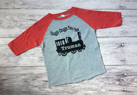 Chugga Chugga Two Two Shirt, 2nd Birthday Shirt, Train Birthday Shirt, Train Shirt - Purple Elephant STL