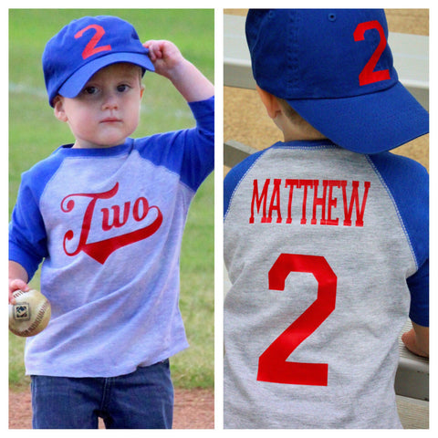 2nd Birthday Baseball Shirt First Boys