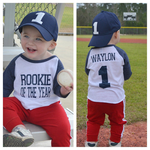 Rookie Of The Year Shirt First Birthday Baseball
