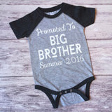 Big Brother Shirt, Promoted To Big Brother Shirt, Brother Shirt, Pregnancy Announcement Shirt - Purple Elephant STL
