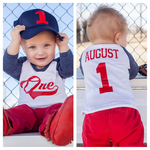 First Birthday Baseball Shirt Boys