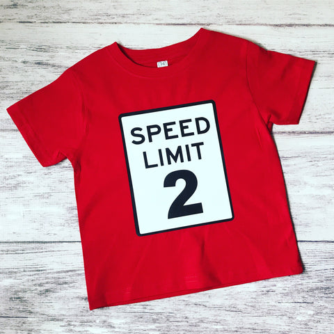 2Transportation Birthday Shirt Speed Limit 2nd T