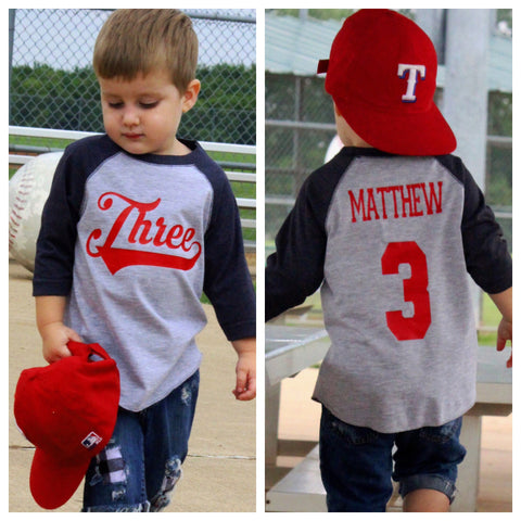3rd Birthday Shirt Baseball Boys T