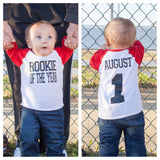 Rookie of the year birthday shirt, Baseball birthday shirt, baseball cake smash shirt, cake smash shirt, 1st birthday shirt, first birthday - Purple Elephant STL