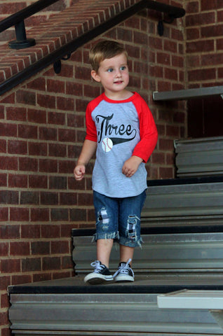 3rd Birthday Baseball Shirt Boys T