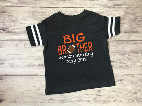 Big Brother Season Starting, football big brother, pregnancy announcement shirt, promoted to be big brother shirt - Purple Elephant STL