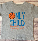 Only Child Shirt, Only Child Expiring Shirt, Only Child Season Ending Shirt, Pregnancy Announcement, Only Child Shirt - Basketball - Purple Elephant STL