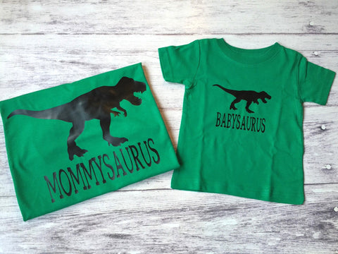 Mommy Me Shirts Mommysaurus Shirt Babysaurus Dinosaur Birthday