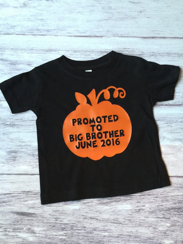 Big Brother Shirt, Promoted To Big Brother, Fall Pregnancy Announcement, Pumpkin Patch Shirt - Purple Elephant STL