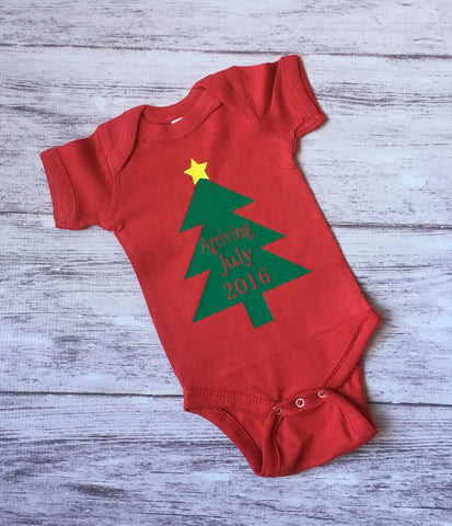 Christmas Pregnancy Announcement Shirt, Christmas Baby Shirt, Pregnancy Announcement Shirt, Gender Reveal Shirt, Christmas - Purple Elephant STL