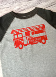 Fire Chief Shirt, Personalized Firetruck Shirt, Firefighter Birthday Shirt - Purple Elephant STL