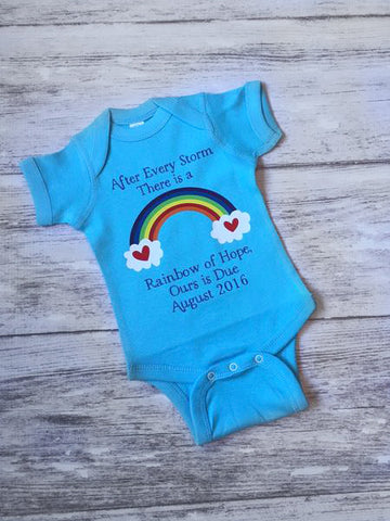 rainbow baby bodysuit rainbow baby after every storm shirt