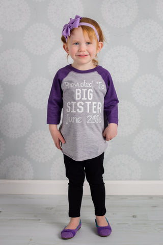 Big Sister Shirt, Promoted To Big Sister Shirt, Big Sister To Be Shirt, Sister Shirt - Purple Elephant STL