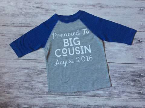 Boys Big Cousin Shirt, Promoted To Big Cousin Shirt, Cousin Shirt, Pregnancy Announcement Shirt - Purple Elephant STL