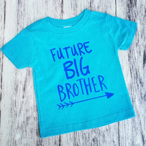 Future Big Brother Shirt, Brother Shirt, Pregnancy Announcement Shirt, Brother To Be Shirt - Blue - Purple Elephant STL