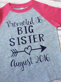 Promoted to Big Sister Shirt, ig Sister Shirt, Big Sister To Be Shirt, Sister Shirt - Purple Elephant STL