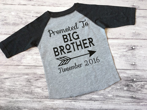 Promoted To Big Brother Shirt, Big Brother Shirt, Pregnancy Announcement Shirt - Purple Elephant STL