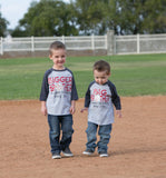 Bigger Brother and Big Brother Matching Shirts, Brother Baseball Shirts, Gender Reveal Shirts - Purple Elephant STL