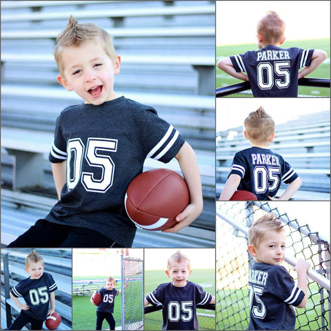 Football Birthday Shirt, Football Jersey Shirt, Boys Birthday Shirt, Football Shirt - Purple Elephant STL