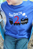 2nd Birthday Shirt, Choo Choo I'm 2 shirt, train birthday shirt, Choo Choo shirt, boys birthday shirt, personalized birthday shirt - Purple Elephant STL