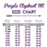 Second Birthday Baseball Shirt, Boys Birthday Baseball Shirt, Baseball Shirt - Purple Elephant STL