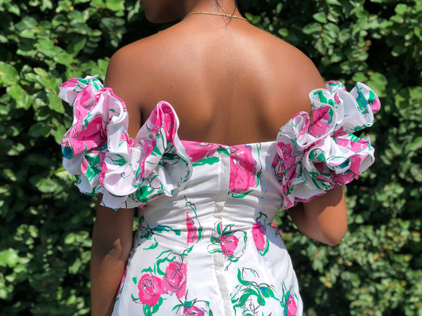 Vintage 80's Ruffled party dress