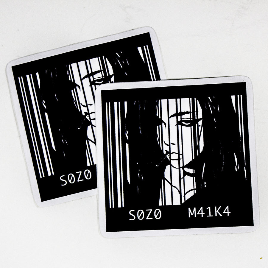 BARCODE GIRL STICKER