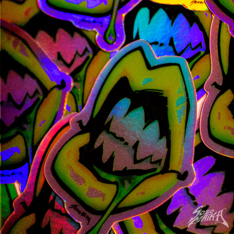HOLOGRAPHIC VINYL LEXXI LIPS STICKER
