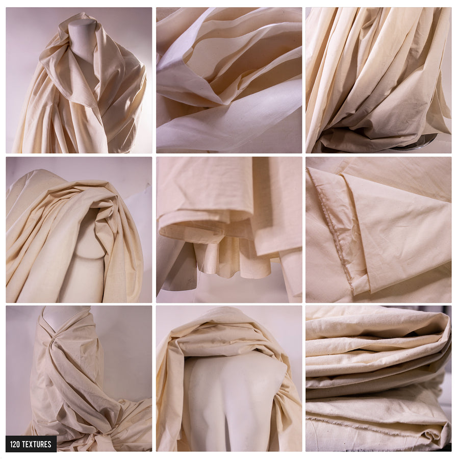 120 MUSLIN FABRIC FOLDS & DRAPING TEXTURES