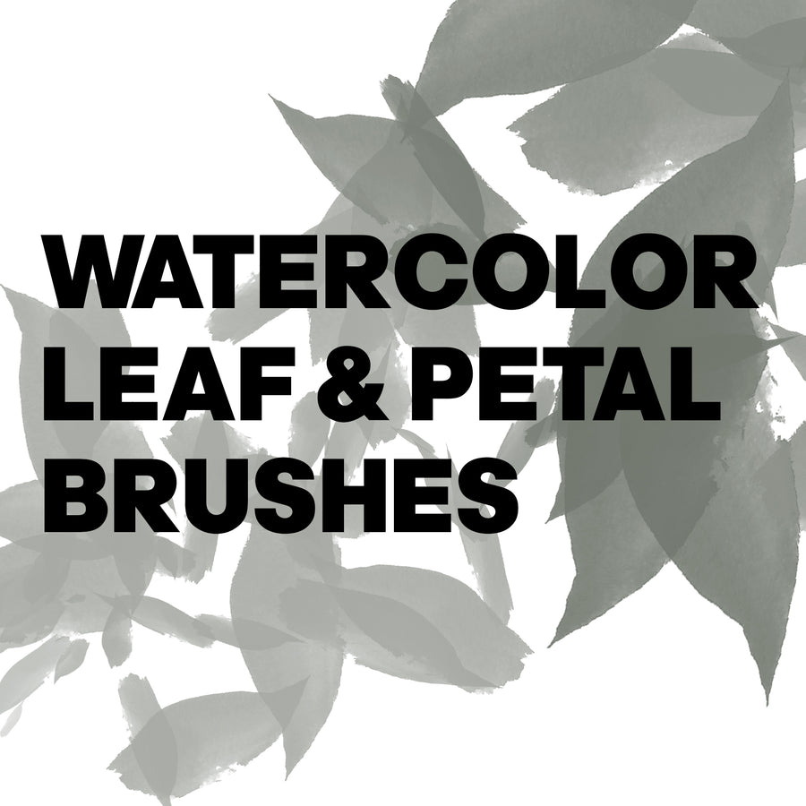 WATERCOLOR LEAF AND PETAL BRUSHES | PHOTOSHOP