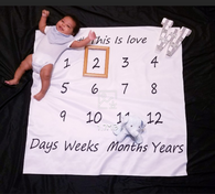 Monthly Milestone Baby Creative Swaddle Newborn Photography Prop Blanket