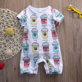 """Buzzing Little Cute""  Long Sleeve Ice Cream Print Romper"