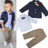 """Little Gentlemen"" Handsome Denim Jacket + Shirt + Pants"
